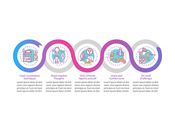 Self-improvement strategies vector infographic template preview picture