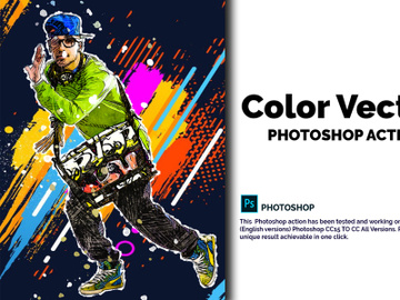 Color Vector Photoshop Action preview picture