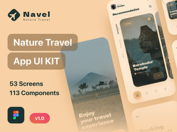 Navel - Nature Travel Expedia App UI Kit Light Mode preview picture