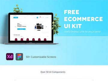 Free Desktop Ecommerce UI Kit preview picture