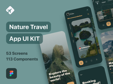 Navel - Nature Travel Expedia App UI Kit preview picture