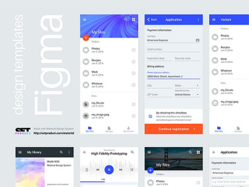 Figma Free Mobile & Web UI preview picture