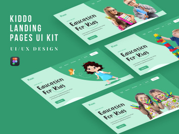 Kiddo Landing Pages UI Kit preview picture