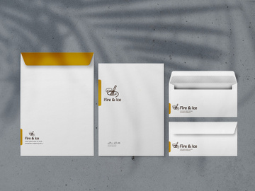 white stationary set mockup preview picture