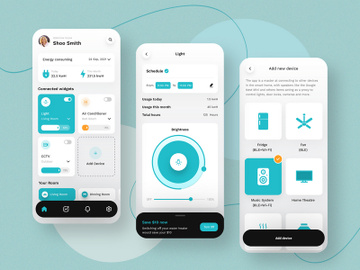 Energy Saver Mobile App Design preview picture