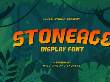 Stoneage | Display Font preview picture