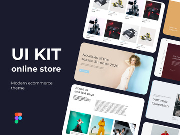 Alyas online store ui-kit in figma and Photoshop preview picture