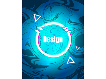 Turquoise retro futuristic style vector background preview picture