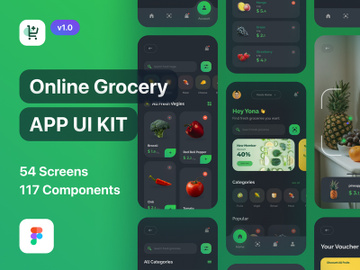 Grofast - Online Grocery App UI Kit Dark Mode preview picture