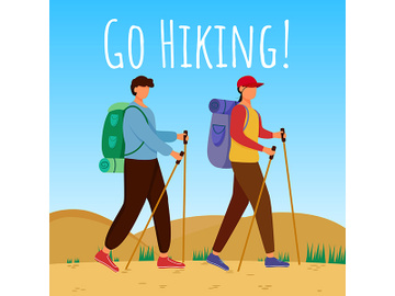 Go hiking social media post mockup preview picture