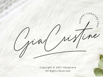 Gia Cristine - Elegant Signature Font preview picture