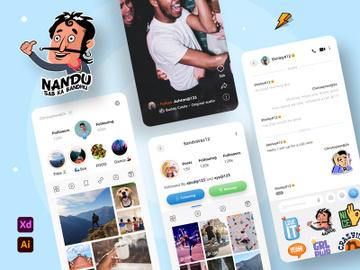 Social Media App Design Concept preview picture
