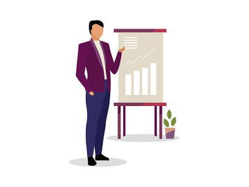 Expert making presentation vector illustration preview picture