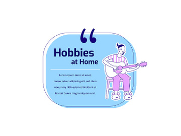 Playing guitar flat silhouette vector character quote preview picture