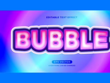 Bubble Gum editable text effect style vector preview picture