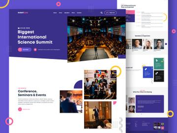 Event Management Landing Page Design preview picture