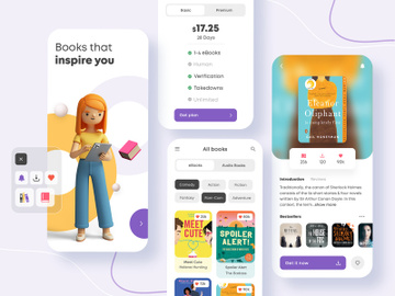 E-Book Mobile App Design preview picture