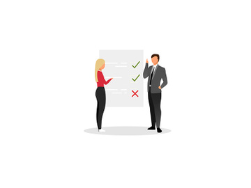 Project manager planning tasks flat vector illustration preview picture