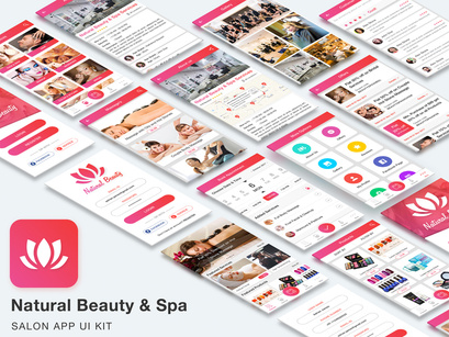 Natural Beauty and Spa Salon App UI Kit by App Innovation