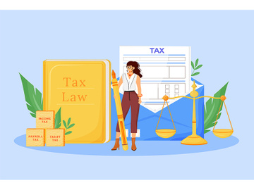 Tax payment expert flat concept vector illustration preview picture