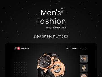 Men's Hand Watches Landing Page UI Kit preview picture