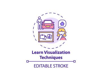 Learn visualization technique concept icon preview picture