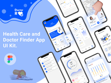 Doctor Finder App Ui Kit preview picture