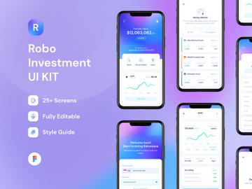 Robo Investment iOS UI KIT preview picture