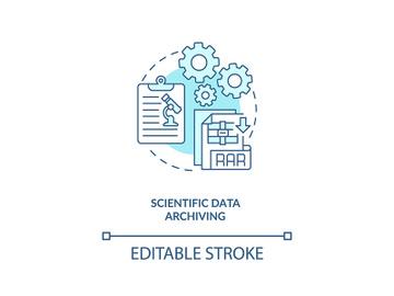 Scientific data archiving concept icon preview picture