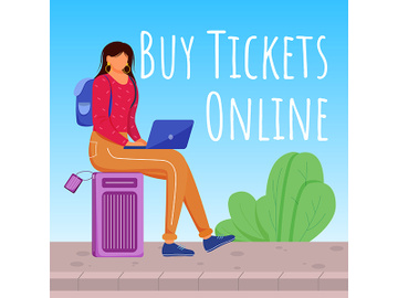 Buy tickets online social media post mockup preview picture