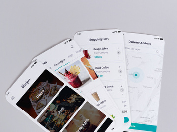 Food Recipe Mobile App UI Kit preview picture