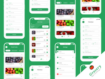 Grocery Mobile App UIUX Design preview picture