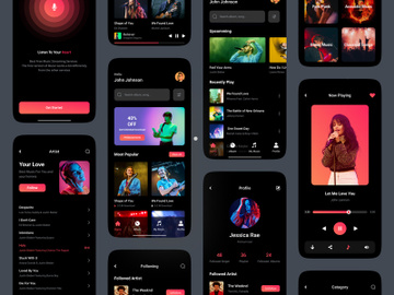 Music App UI Kit preview picture