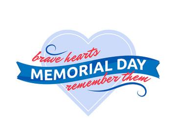Memorial Day appreciation flat color vector badge preview picture