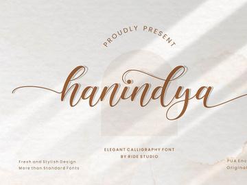 Hanindya Elegant Calligraphy Script Font preview picture