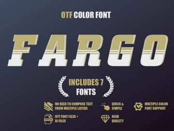 OTF color font - Fargo preview picture