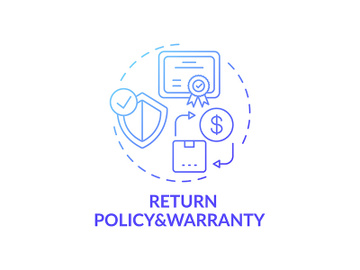 Returning policy and warranty concept icon preview picture