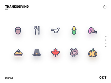 Thanksgiving Icons preview picture