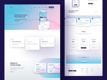 Creative App Landing Page preview picture