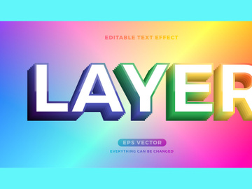 Layer editable text effect style vector preview picture