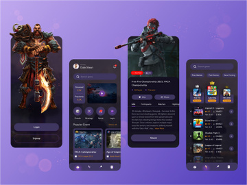 Gaming App Design preview picture