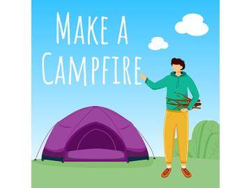 Make campfire social media post mockup preview picture