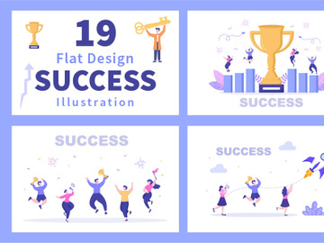 19 Success Flat Design Illustration preview picture