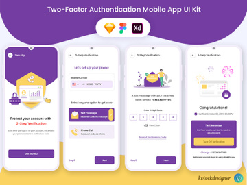Two-Factor Authentication Mobile App UI Kit preview picture
