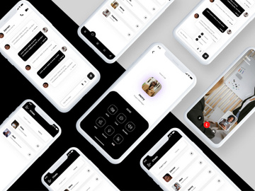 Business Meeting App UIUX Design in Adobe XD preview picture