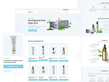 Beauty Pro Template UI Kit For Figma and Photoshop preview picture