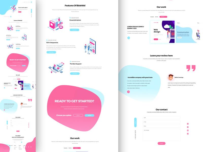 Creative agency Landing UI Kit by Kristyaakg ~ EpicPxls