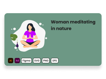 Woman meditating in nature. preview picture
