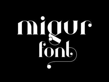 Migur Free Font preview picture