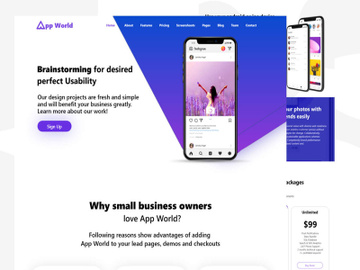 App World Website Template preview picture